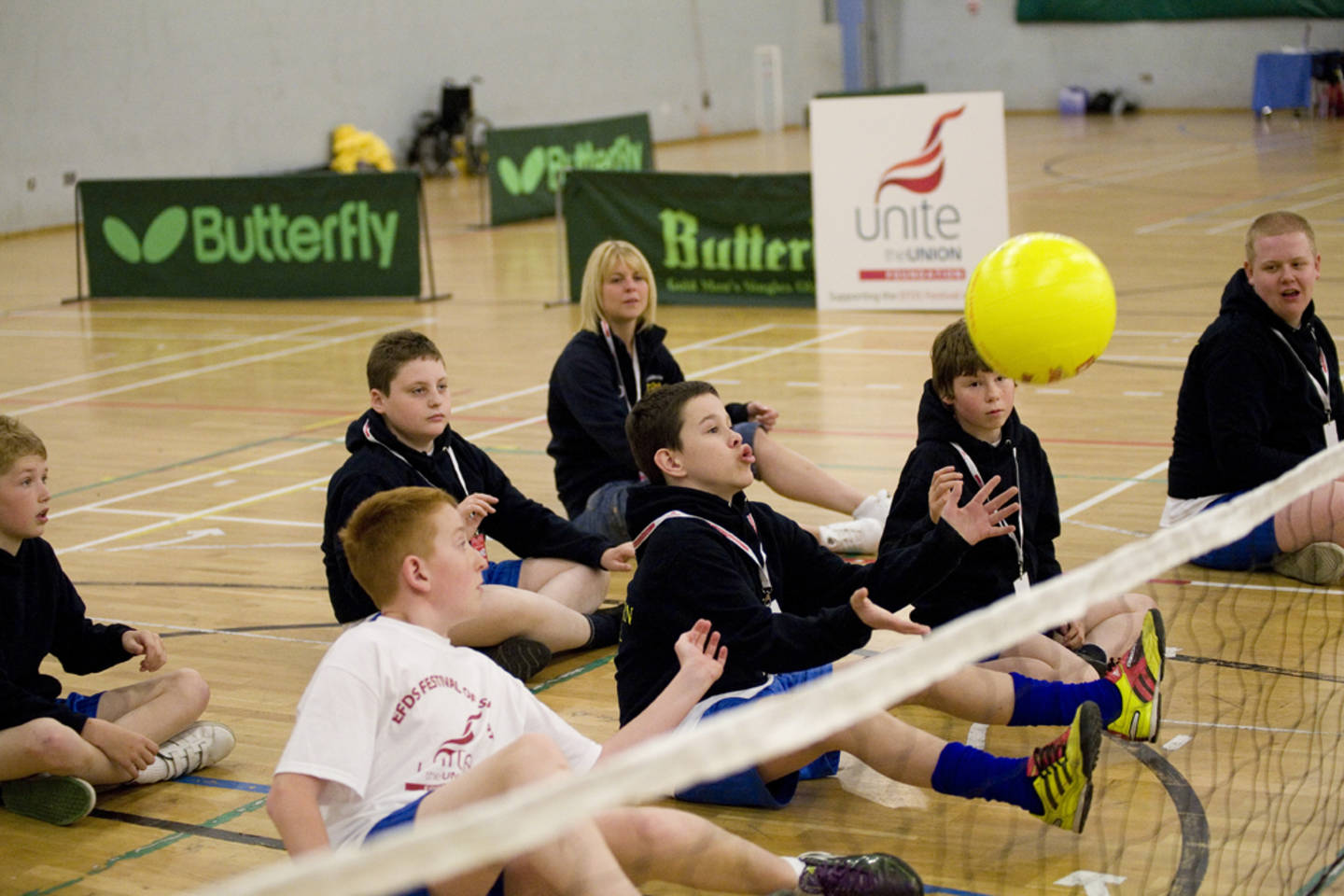 Sitting volleyball session