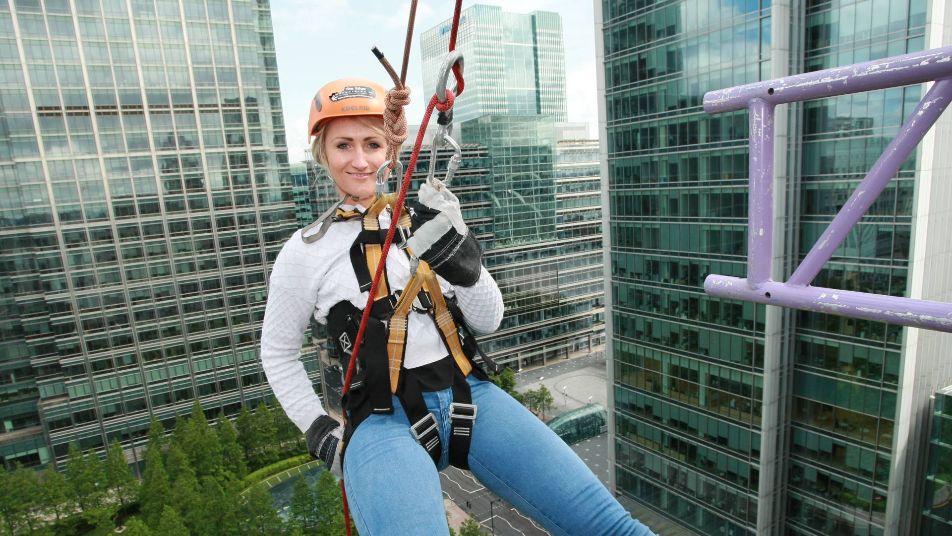 Fundraiser abseiling