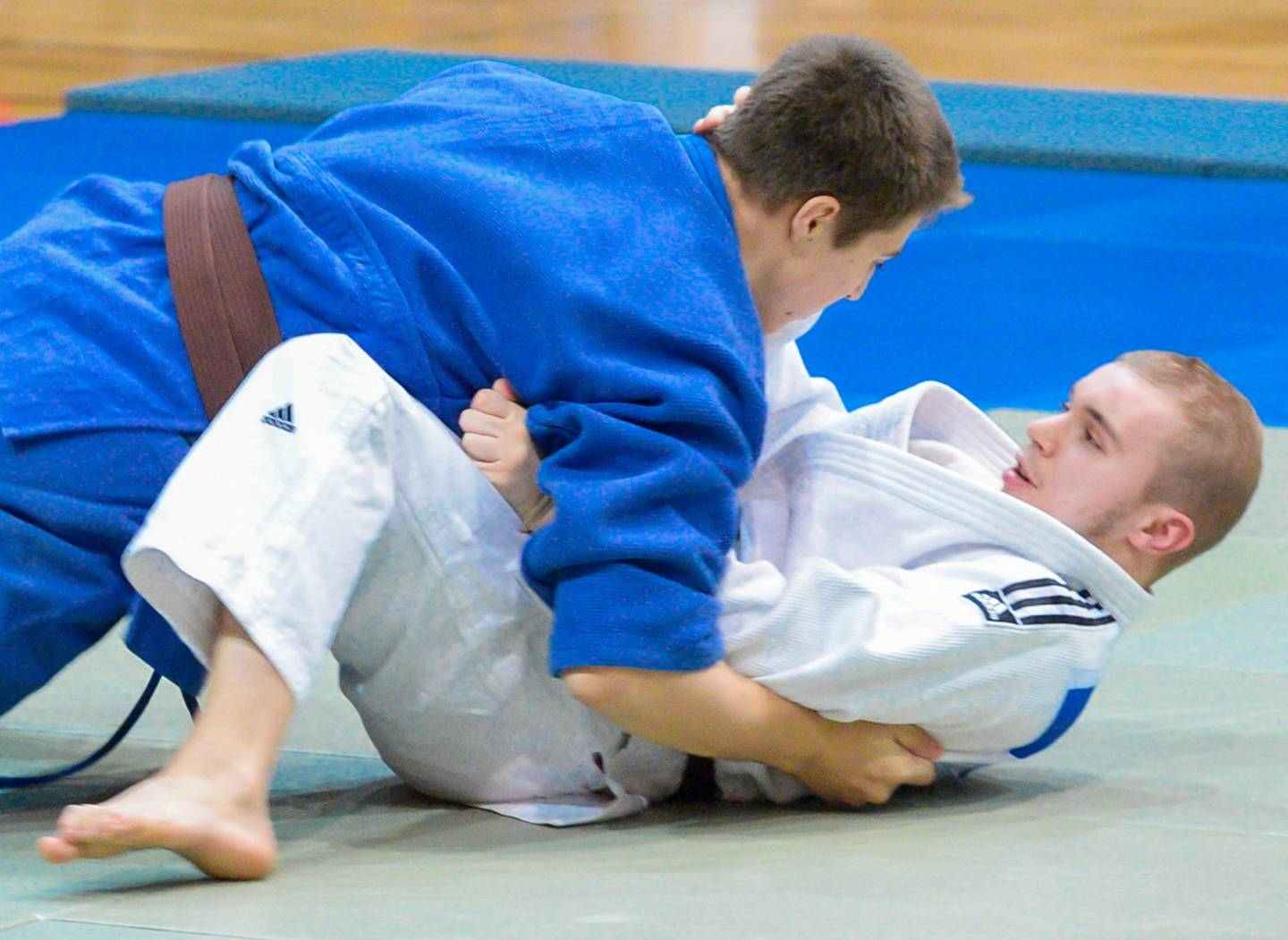 Connor playing Judo