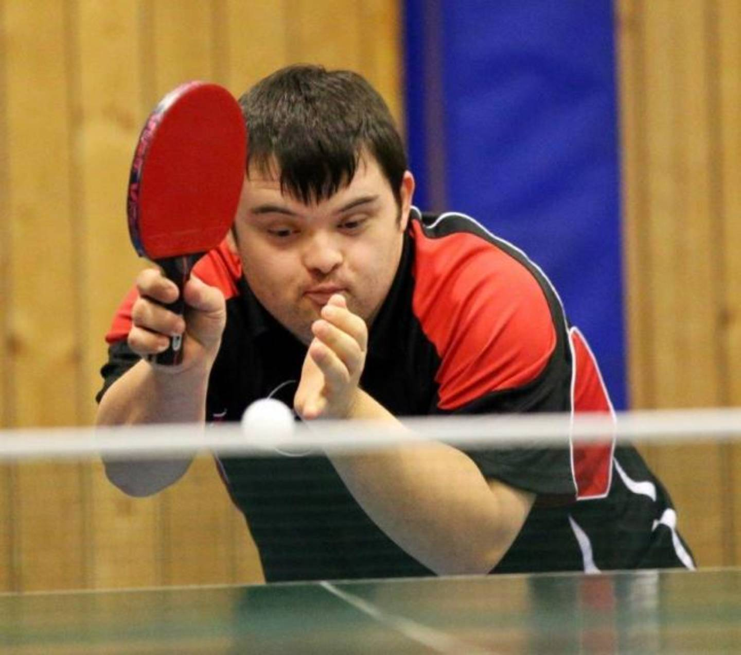 Harry Fairchild, the world's first qualified table tennis coach with Down's syndrome