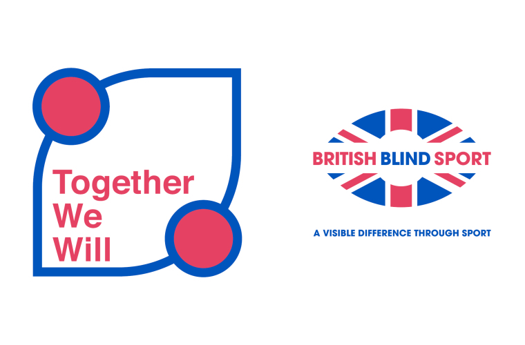 Image shows Together We Will campaign logo and British Blind Sport logo