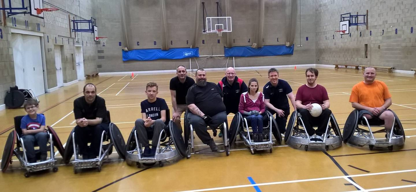 Saints Wheelchair Rugby group photo Beth Phillips