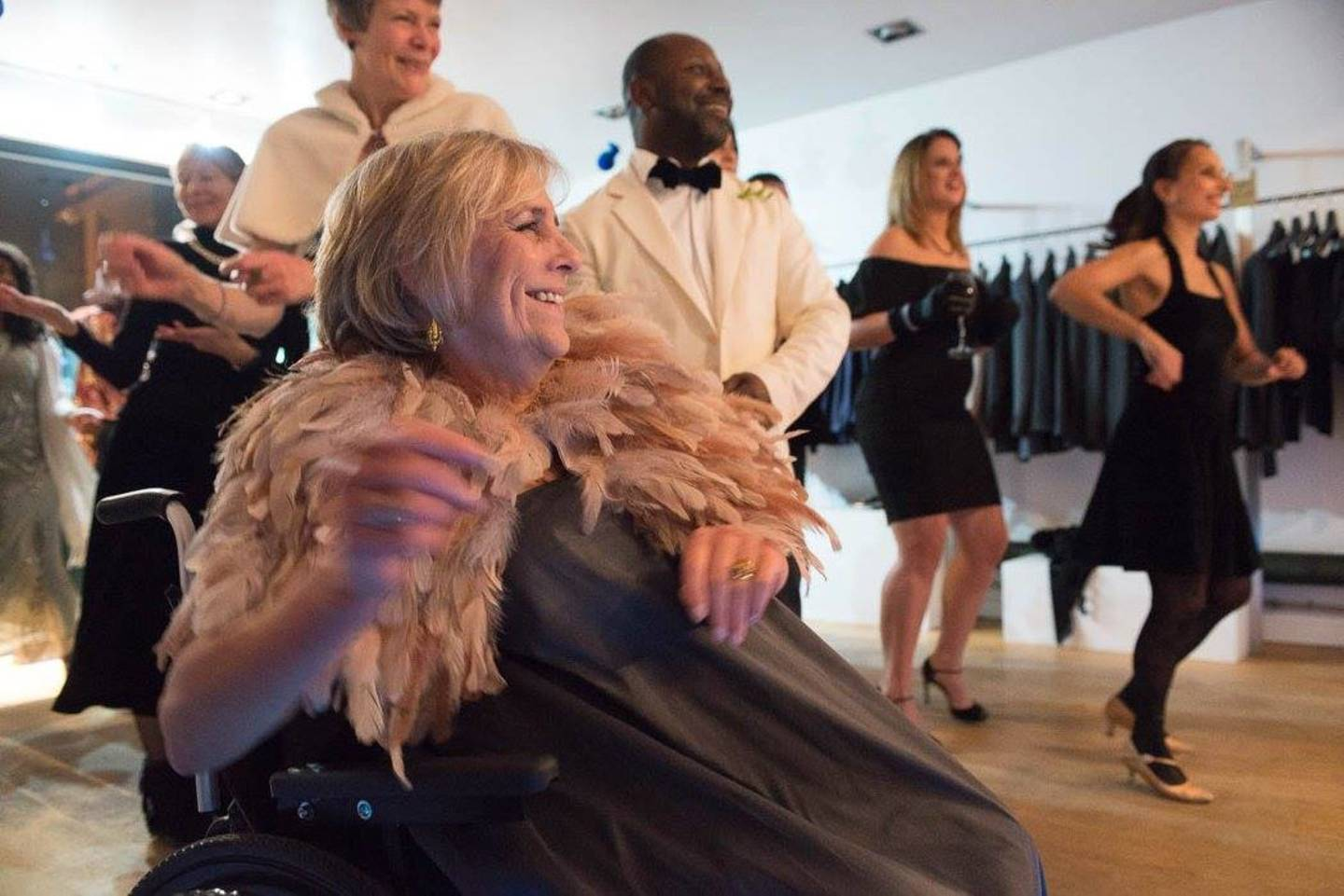Fiona Jarvis taking part in the wheelchair dancing class