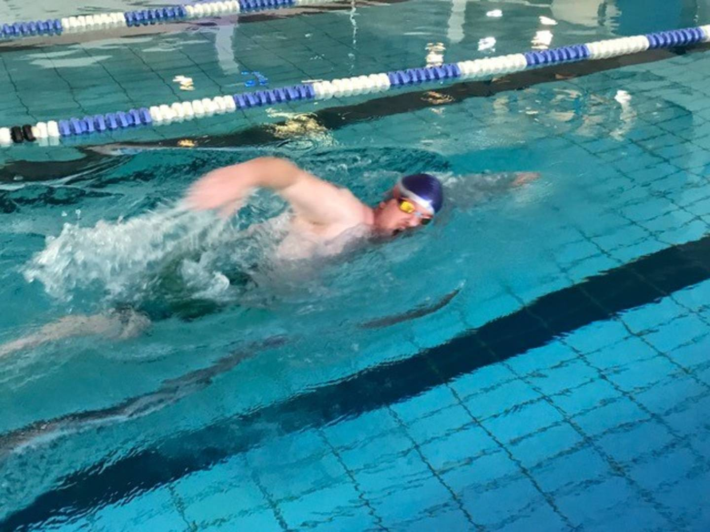 David Morphew swimming