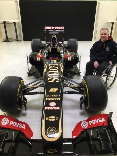 David Morphew visiting Lotus F1 at their factory