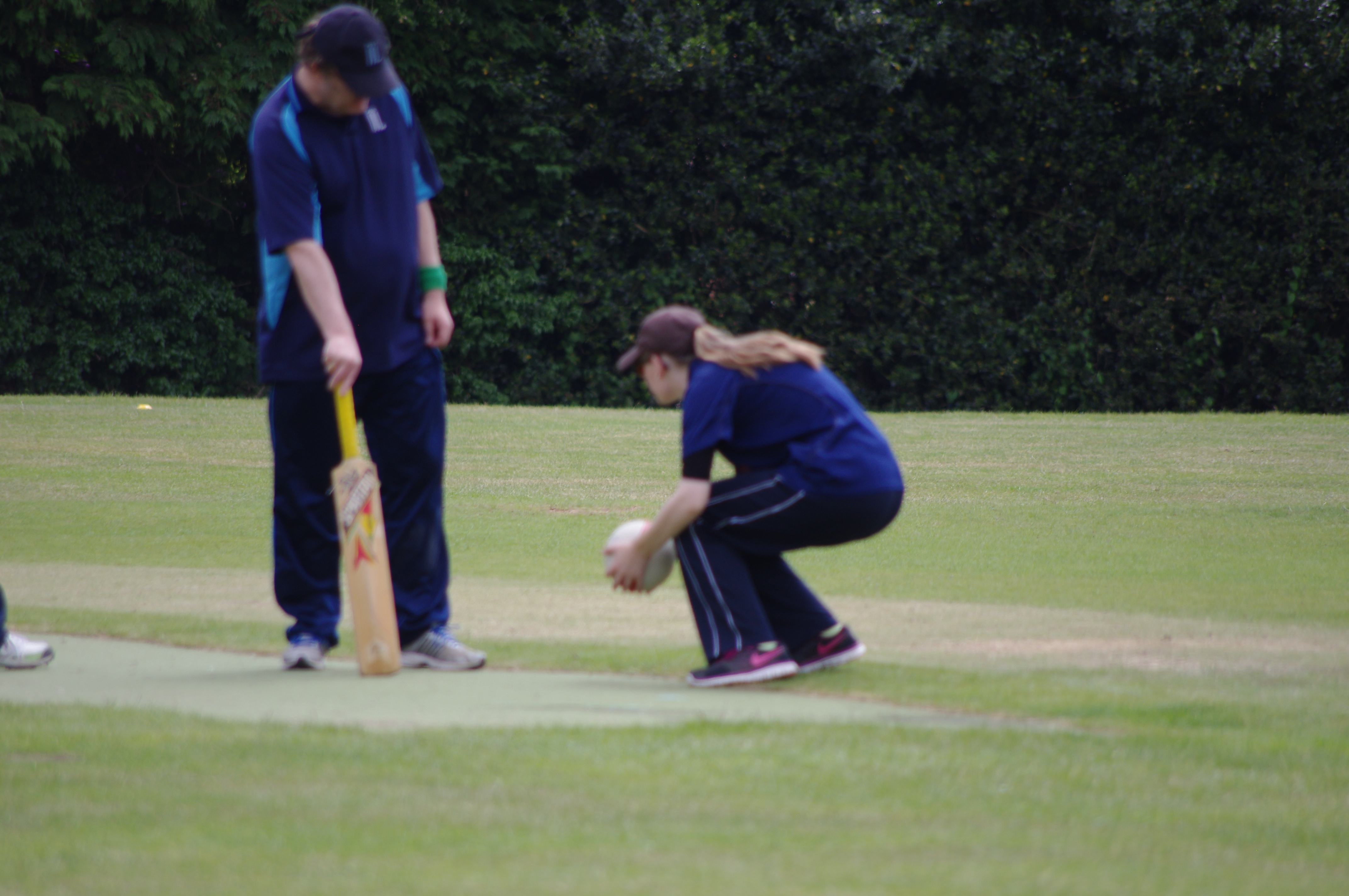 Leanne on the cricket ground
