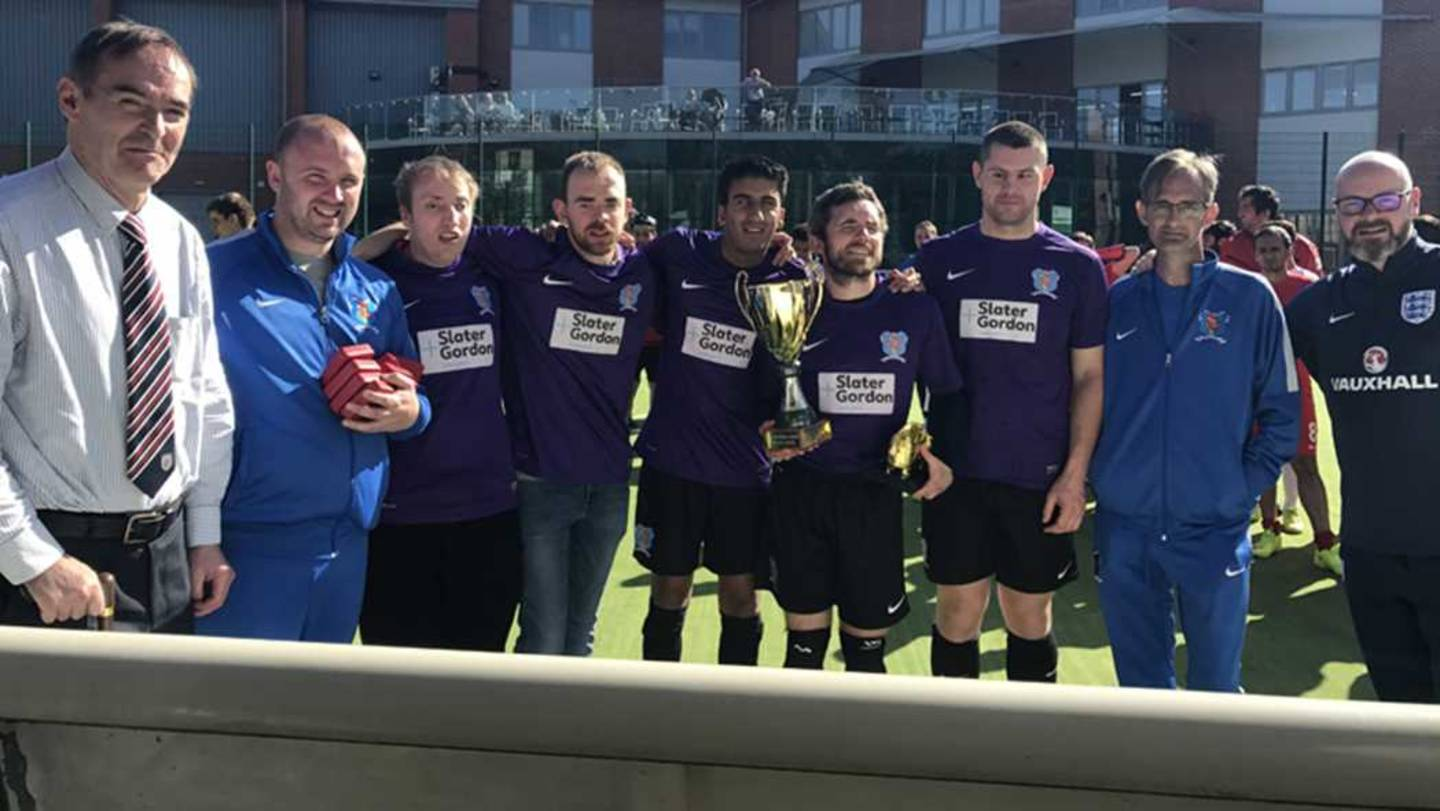 The Merseyside Blind Football team in April 2017