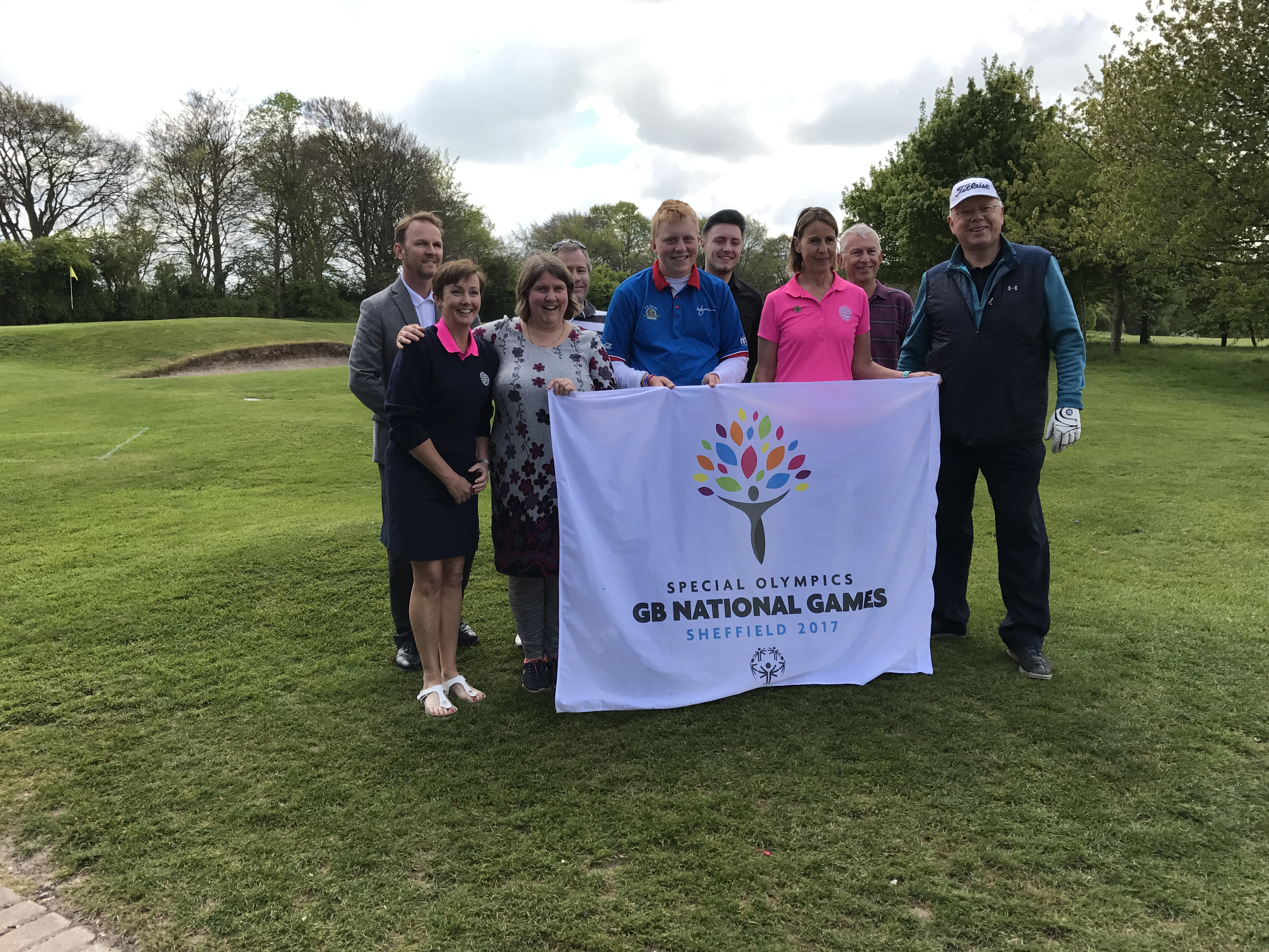 Warren with members of his club, looking forward to the Special Olympics GB National Games in Sheffield