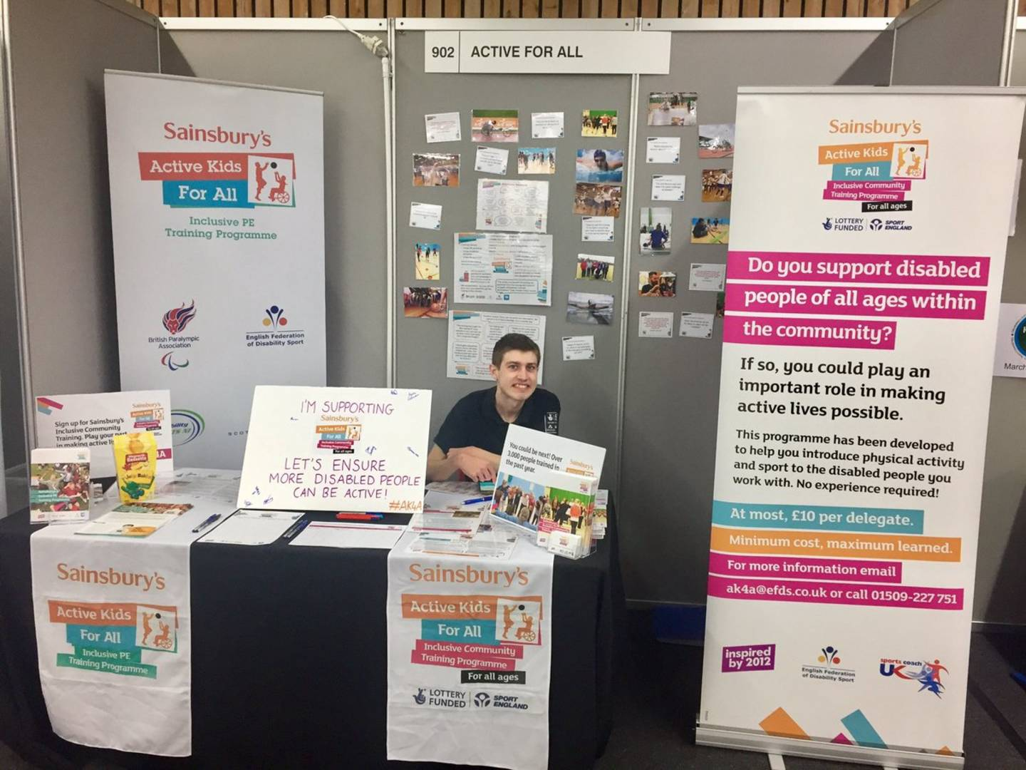 George at the Kidz to Adultz South EFDS stand