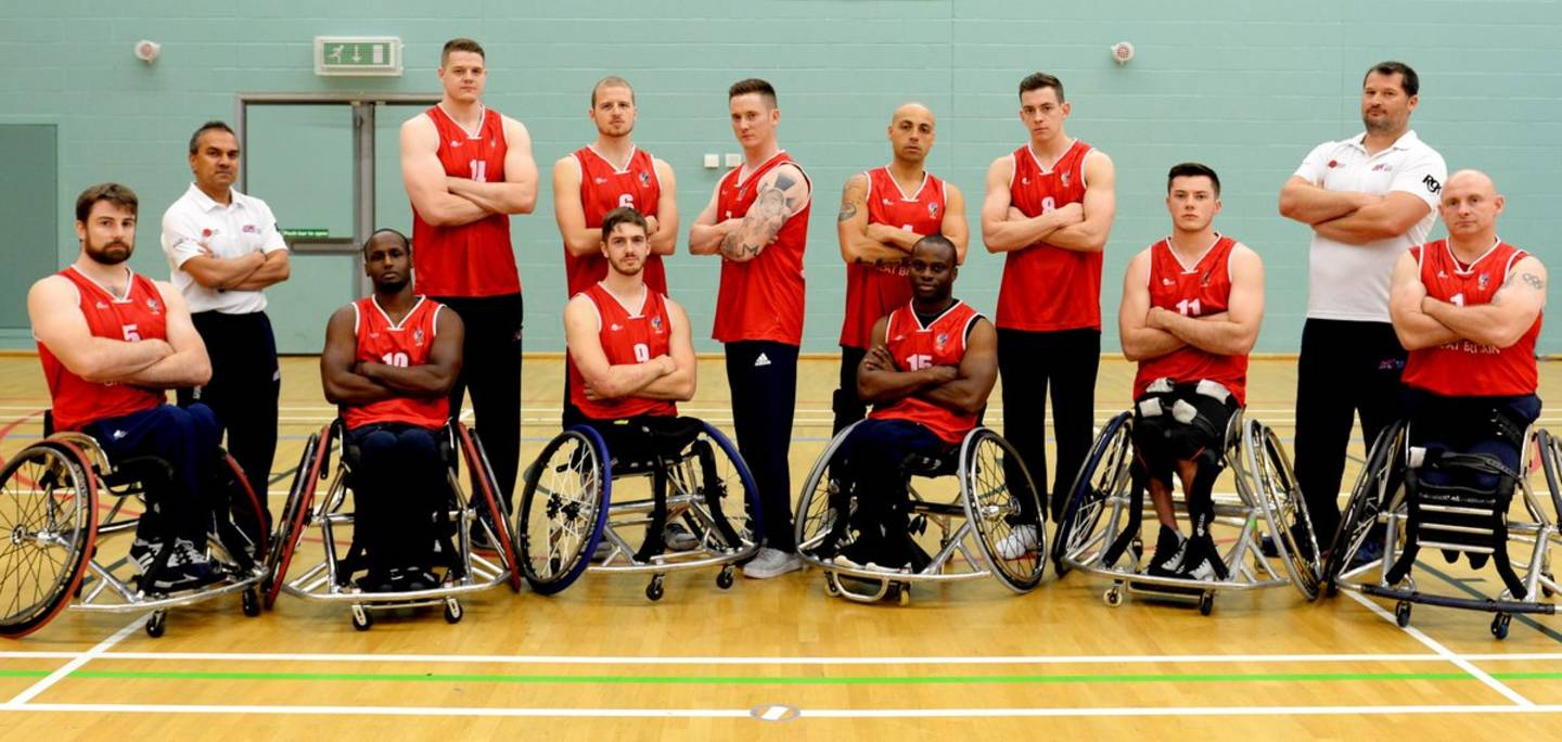 GB Men's Squad European Wheelchair Basketball Championships 2017