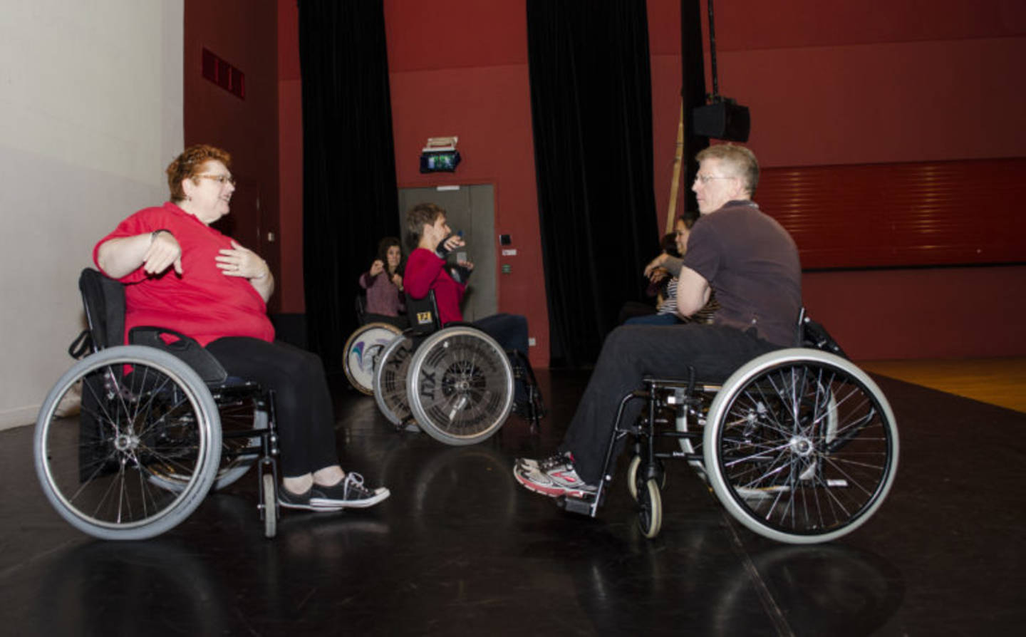 People taking part in Wheelchair dance training course
