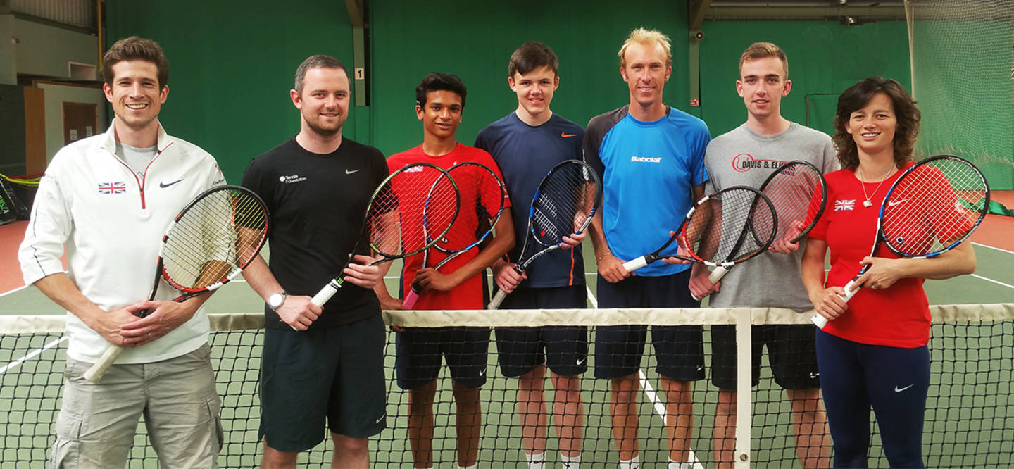 Team photo of GB deaf tennis team