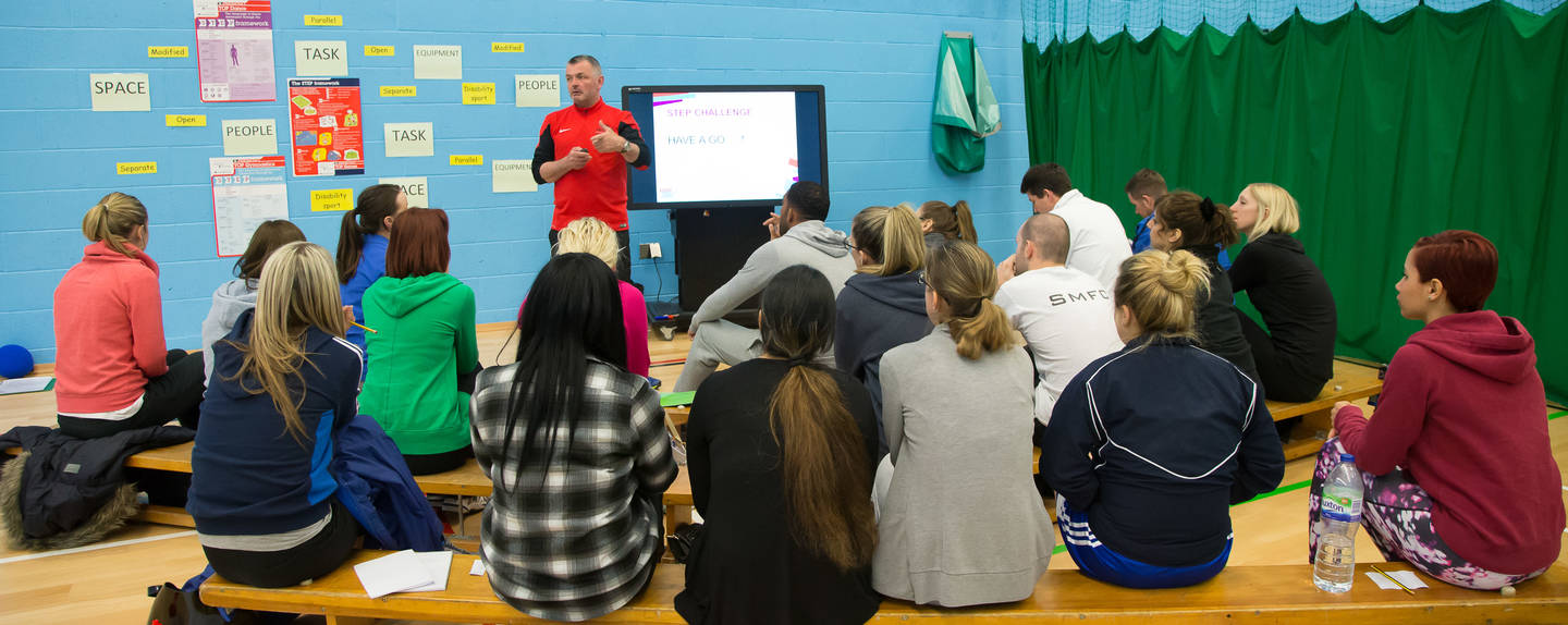 Paul Lord delivering an Inclusive PE Training workshop