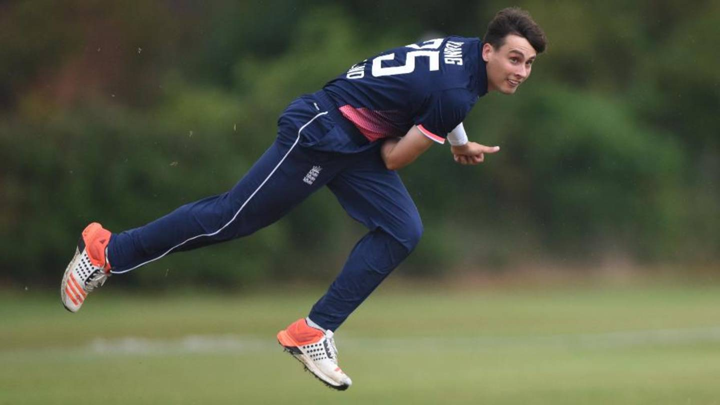 England learning disability cricket player Tayler Young bowling