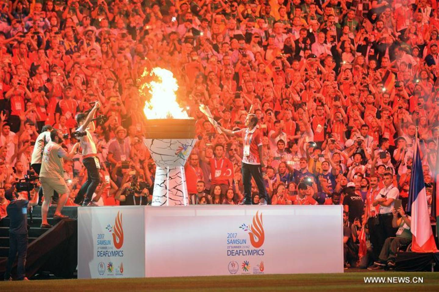Samsun opening ceremony lighting the flame