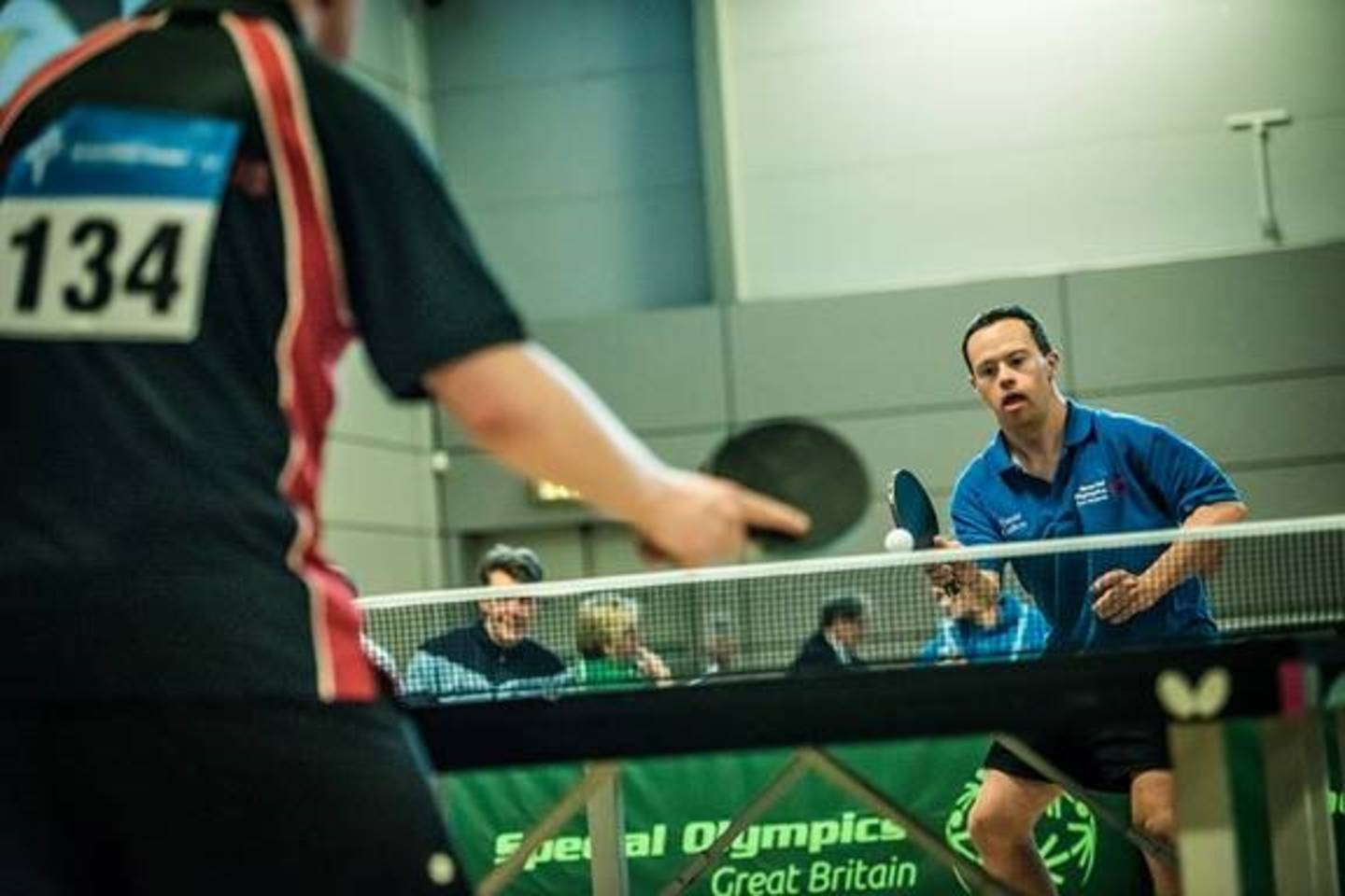Table tennis players at the Special Olympics