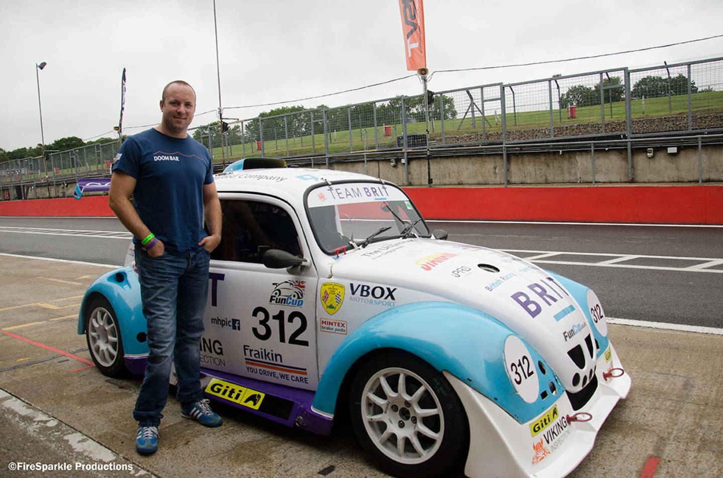 James Russell by the motorsport track with his car