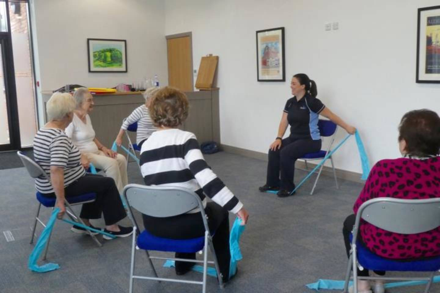 Physio class with older people