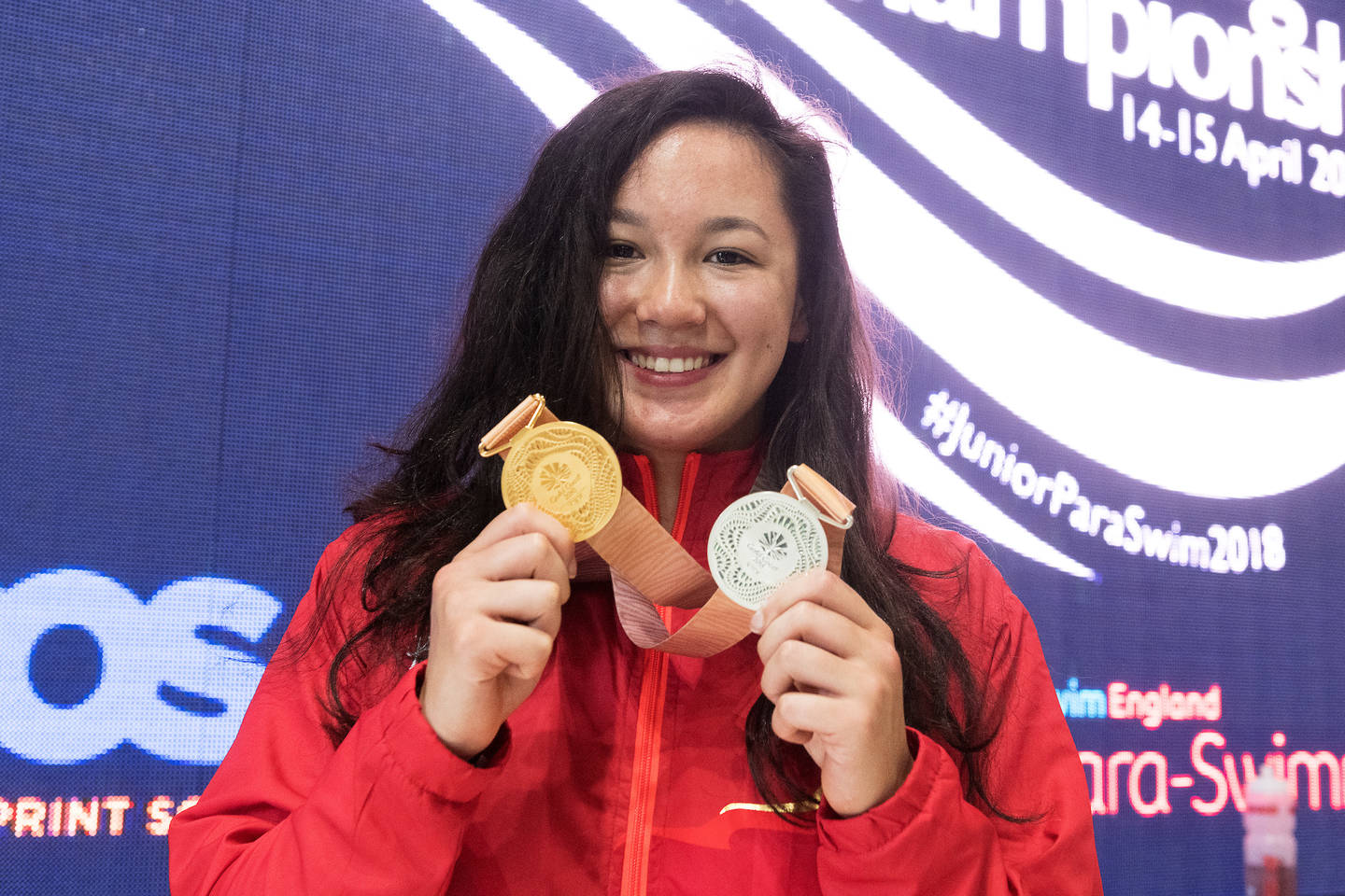 Alice Tai with her 2018 Commonwealth Games medals.