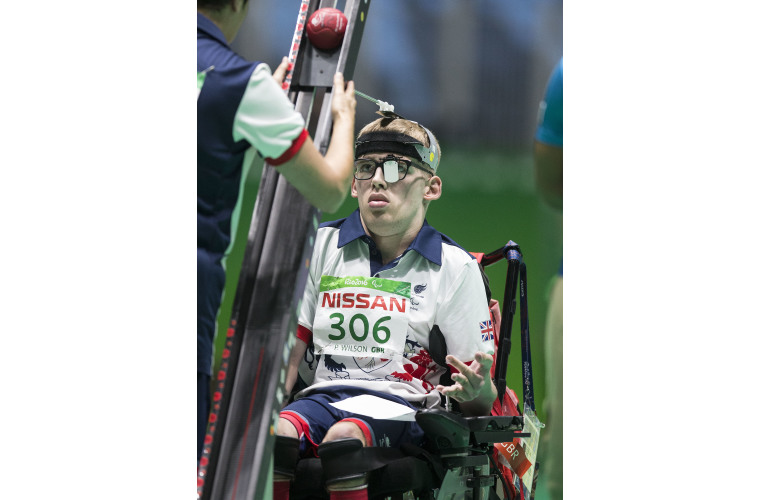 GB Boccia player Patrick Wilson