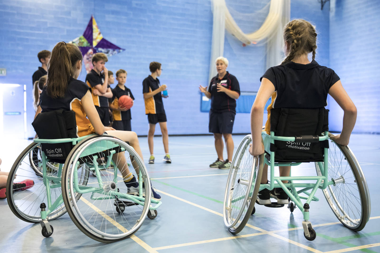 PE Teacher teaching an inclusive PE Lesson