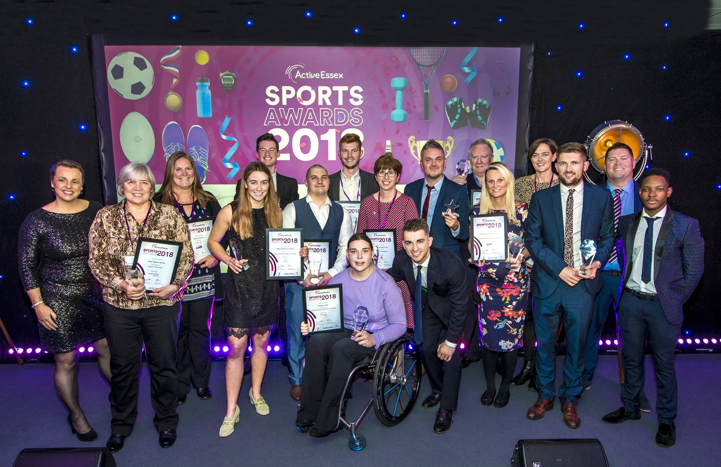 All the winners at the Active Essex Sports Awards 2018 with Max Whitlock (Credit: Active Essex)