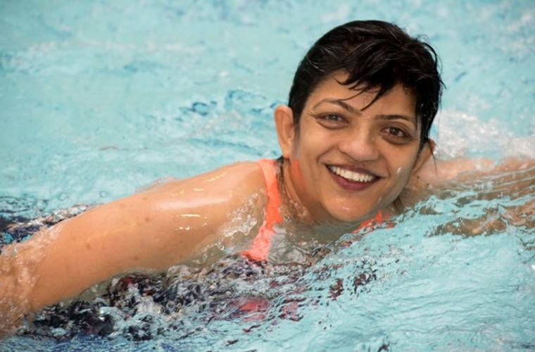 Asmita swimming in a GOGA Nottingham session
