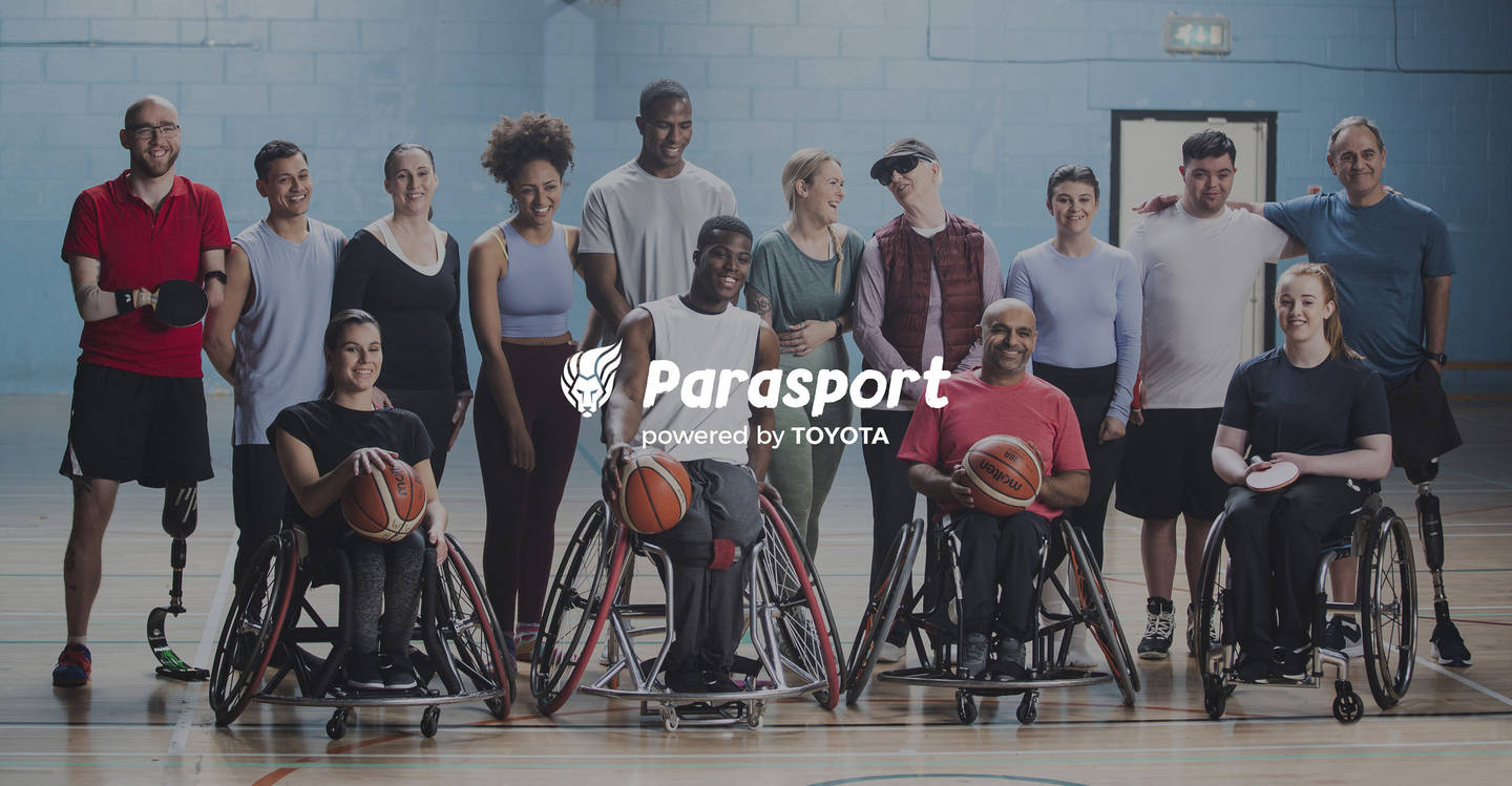 Group of disabled people in the Parasport advert