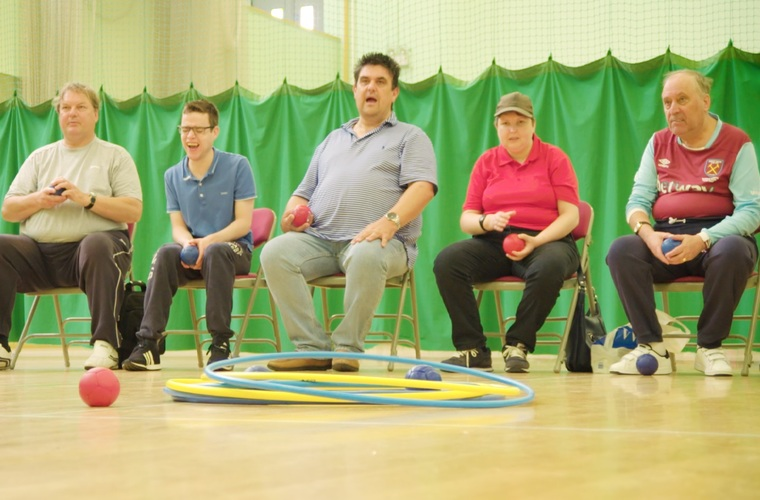 Sport for Confidence boccia session