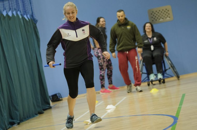 Loughborough students taking part in activities at inclusive activity programme workshop