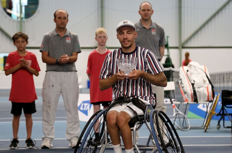Andy Lapthorne runner-up in Quad Singles Final at British Open