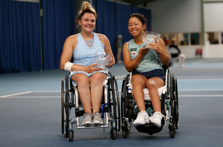 Jordanne Whiley and Yui Kamiji runners-up in women's doubles at British Open