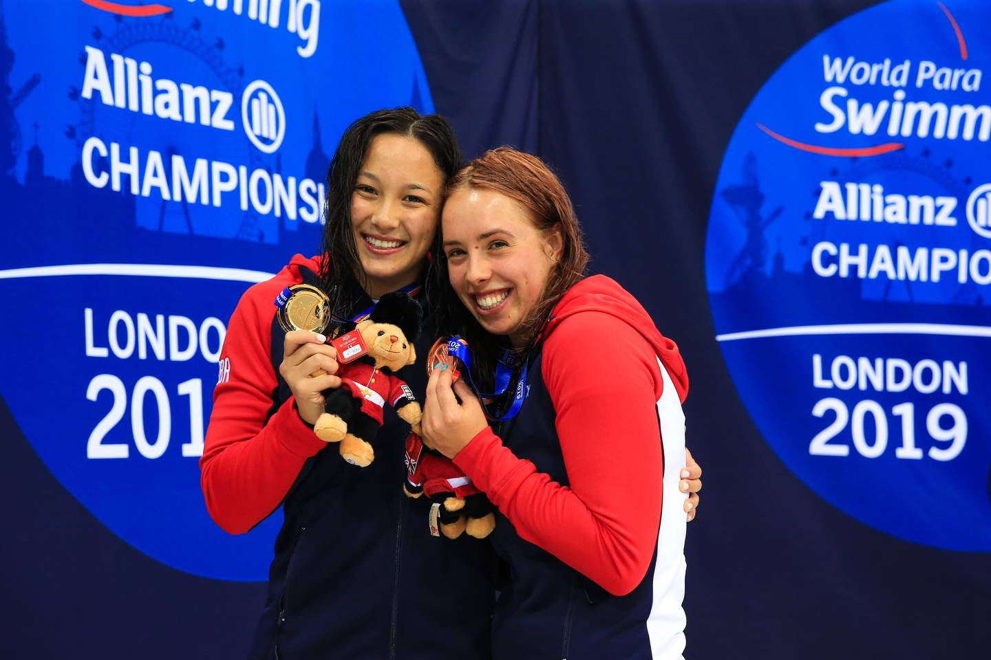 Alice Taii and Megan Richter celebrating