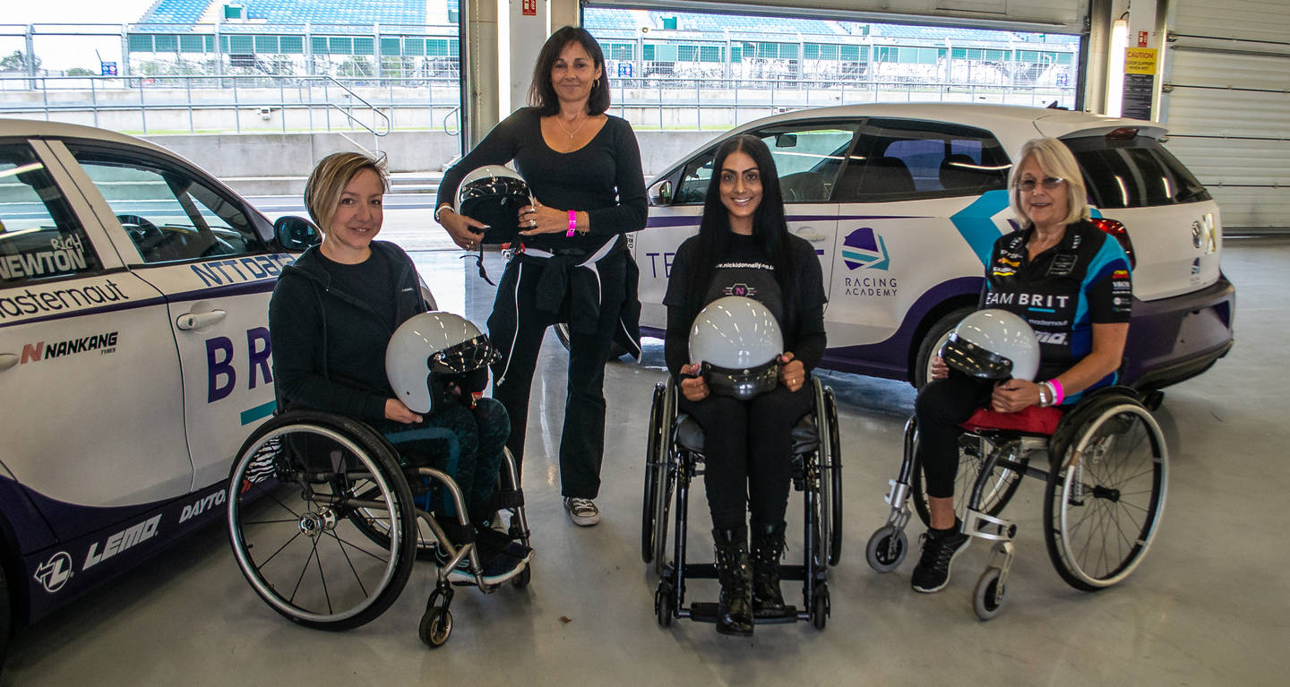 Anna, Lorraine, Nicki and Tracey ready to take to the race track with Team BRIT.