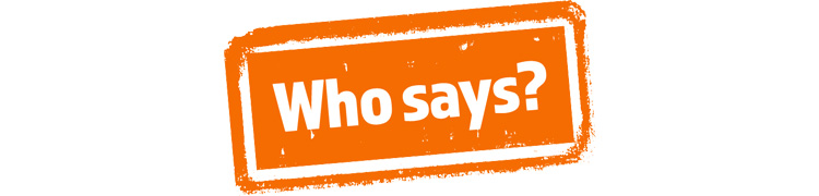 Who Says? Campaign Logo