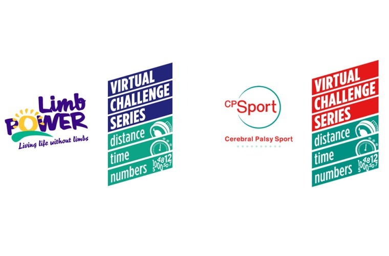 CP Sport and LimbPower Virtual Challenge Series logos